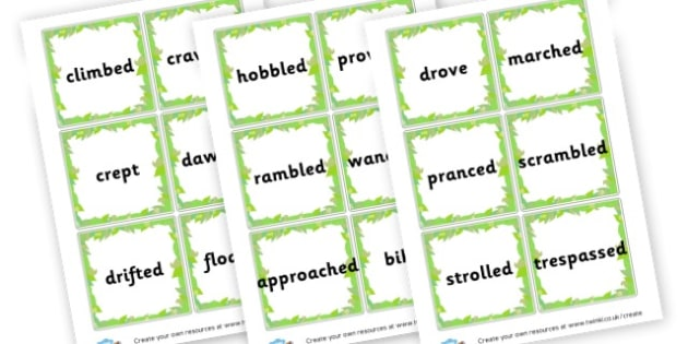 Alternative Words for Went Word Cards - Words & Vocab Primary Resources, literacy, keywords, cvc, phonemes