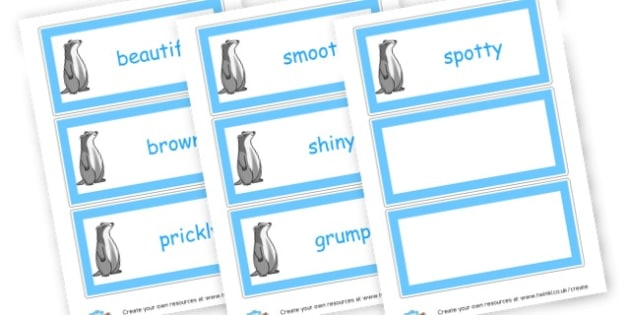 Adjectives Word Cards - Adjectives Primary Resources, cll, wow, keywords, describing words