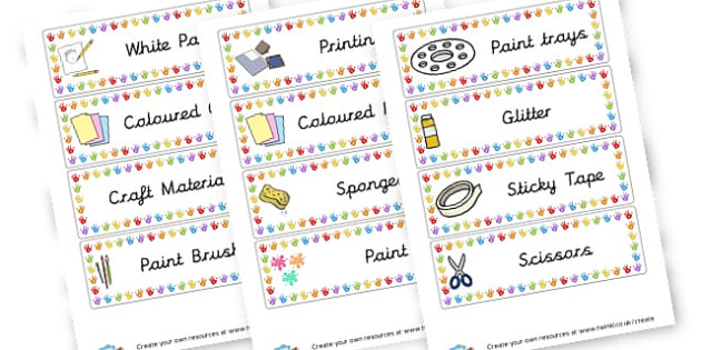 Art Resources Labels - Resource Labels Primary Resources, resource, label, drawer labels