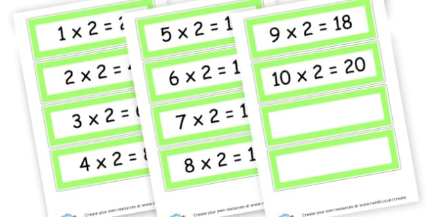 2 x Table Cards - Times Tables Primary Resources, multiply, times, number of, games, Times, Table, Tabe