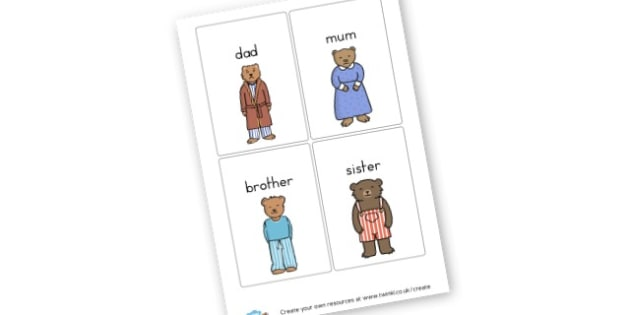 ma famille - My Family Literacy Primary Resources, education, home school