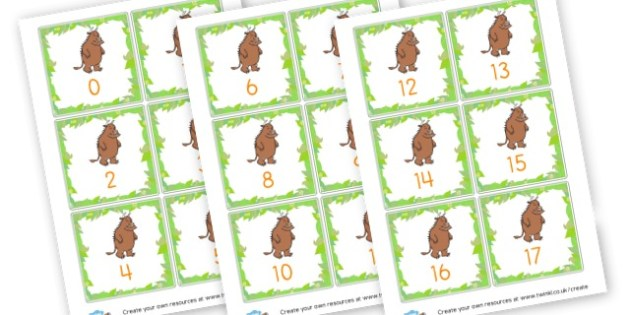 Gruffalo Number Cards to 50 - The Gruffalo Primary Resources, Julia Donaldson, storybook, mouse, grufalo