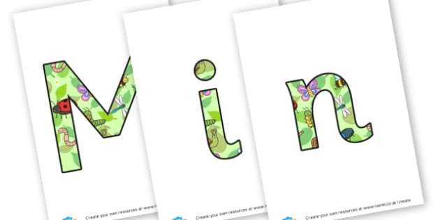 Minibeasts Lettering - Minibeasts Display Primary Resources, minibeast, bugs, life cycles