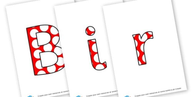 Birthdays - display lettering - Birthdays, Display,  Primary Resources, birthday, party, happy, c