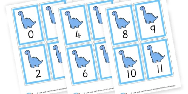 Number Cards 1-20 (Blue) - Maths Primary Resources, maths games, numbers, counting, money, NUMRCEY