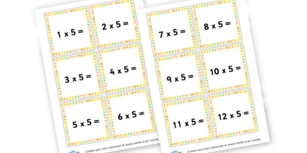 5 Times Table Question Cards - Times Tables Primary Resources, multiply, times, number of, games, Times, Table, Tabe