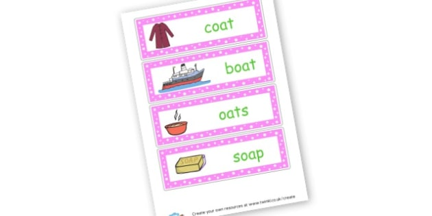 oa Words Cards - Sound Families Primary Resources, sound, sounds, sound family