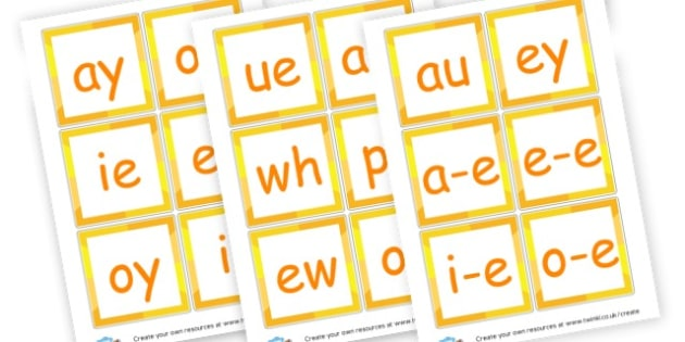 Phase 5 Sound Cards - Phase 5 Visual aids Primary Resources, Phase One, Letters, sounds