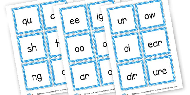 Phase 3 Sounds Flash Cards - Phase 3 Visual Aids Primary Resources, Phase One, Letters, sounds