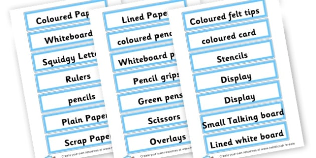 Resources Labels - Resource Labels Primary Resources, resource, label, drawer labels