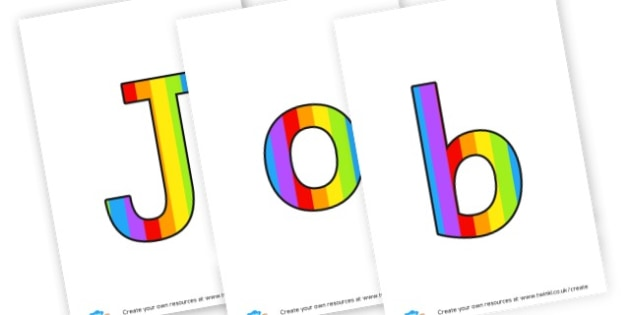 Jobs of the day - display lettering - Class Management Primary Resources, behaviour, pshe, golden time