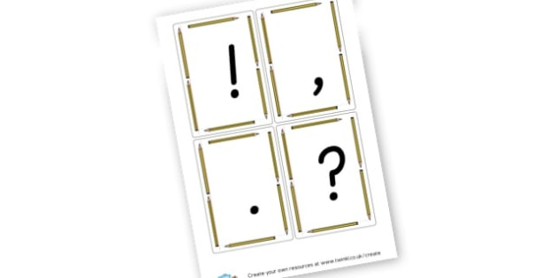 Question Mark/Punctuation Flashcards - Punctuation Primary Resources, Punctuation, SPaG, SPaG Resources