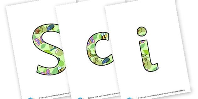 Science Week Lettering - KS2 Science, Display, Posters, Instructions, Information, KS2