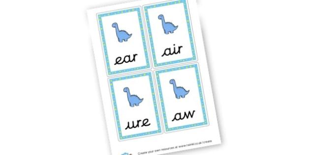 Dinosaur Grapheme Cards - Dinosaurs Literacy Primary Resources, t-rex, writing, words,