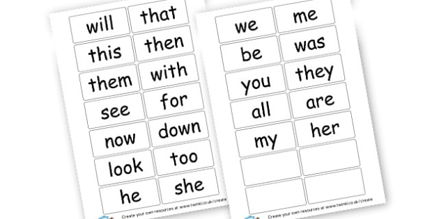 phase 3 high frequency words small flash cards - Phase 3 Visual Aids Primary Resources, Phase One, Letters, sounds