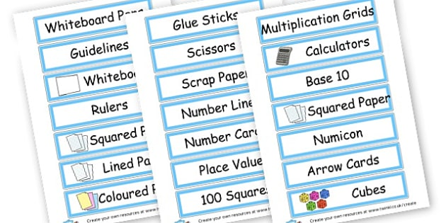 drawer labels - Resource Labels Primary Resources, resource, label, drawer labels