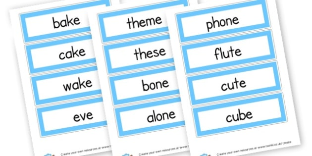 split diagraph words - Letters and Sounds Phase 5 Primary Resources, Phase Five, phonics