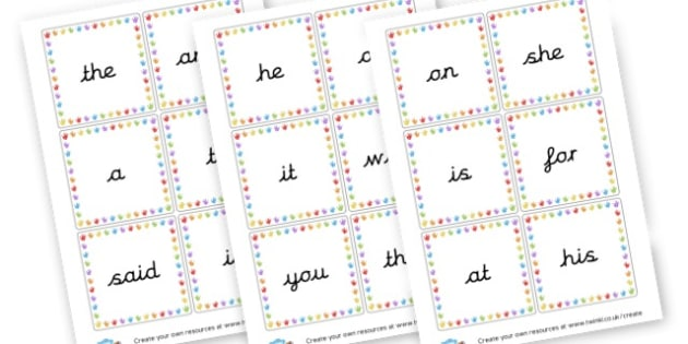 High Frequency Words - High Frequency Words Visual Aids Primary Resources, letters