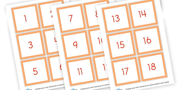 Numbers 1 - Counting Flashcards Primary Resources, flash card, number line, numberlines, maths, numeracy, count, Early Years (EYFS), KS1 Primary Teaching Resources