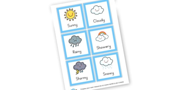 Weather Cards - Weather Literacy Primary Resources,Weather,Primary,Literacy,Words