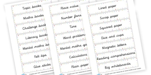 Classroom Equipment - Classroom Signs & Label Primary Resources, labels, posters, rules