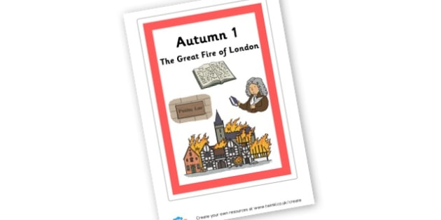 The Great Fire of London Cover Page - display lettering - History Primary Resources, past, old, fire, london, nightingale