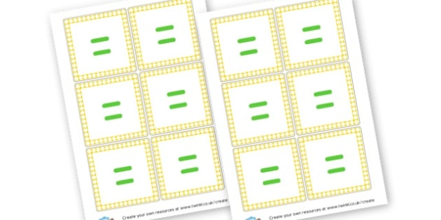 Equals Symbols Cards - Maths Area Primary Resources, maths is fun, signs, labels, areas