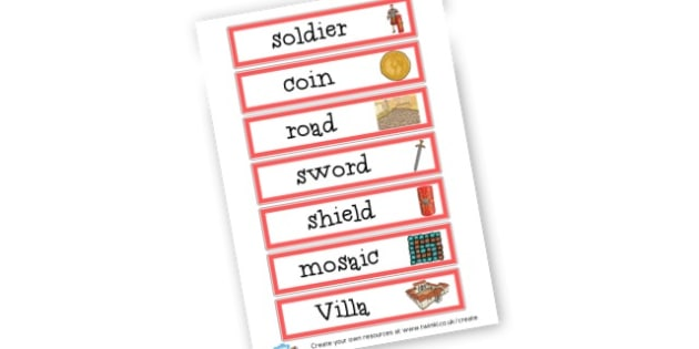 Roman Words - The Romans Keywords Primary Resources, Romans, Rome, Roman Empire