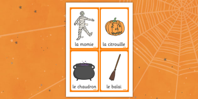 Halloween French Keywords 4 - French Literacy Primary Resources,French,Languages,Literacy,Words