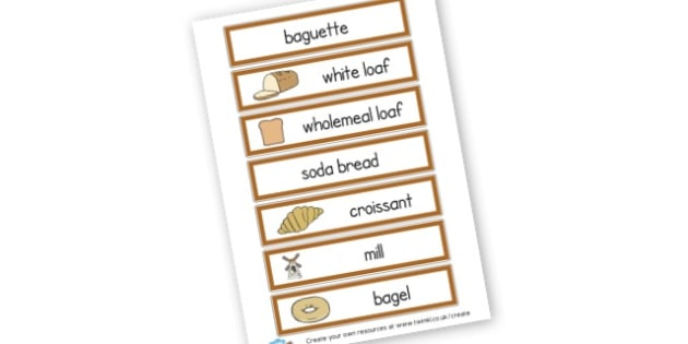 Bread - Food, Drink and Eating Literacy Primary Resources - Food & Drink