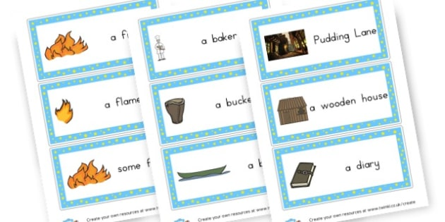 Fire of London Vocab cards - The Great Fire of London Primary Resources, Fire of London, Plague