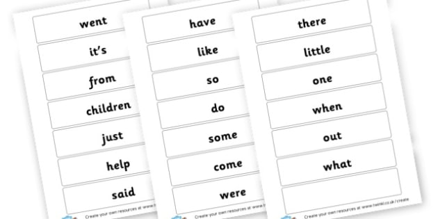 High Frequency Word Cards - High Frequency Words Visual Aids Primary Resources, letters, frquency
