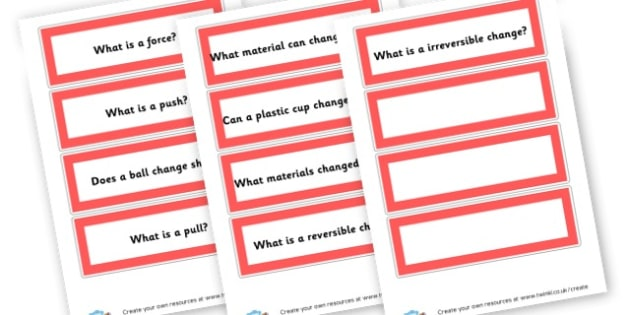 Forces Question Cards - Forces & Motion Primary Resources, Forces, Motion, Magnetism