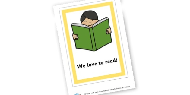We Love To Read Sign - Reading Area Primary Resources, signs, area, zones, banner, poster