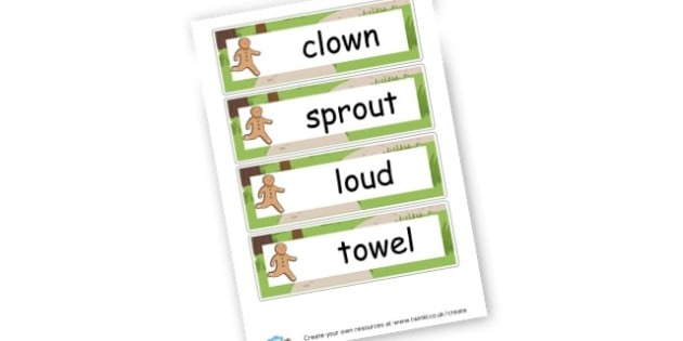 Alternative 'ow' Word Cards - DFE Letters and Sounds Phonics Screening Check Primary Resources