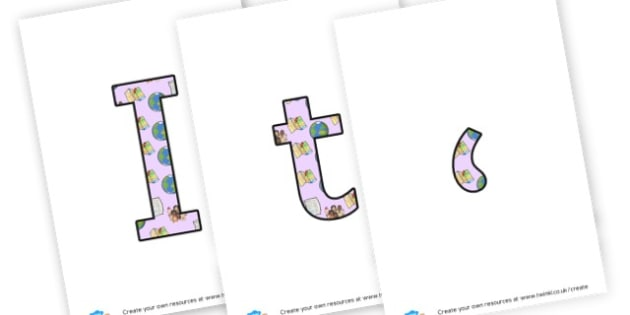Map - display lettering - Small World Area Primary Resources, backdrop, background, scenery