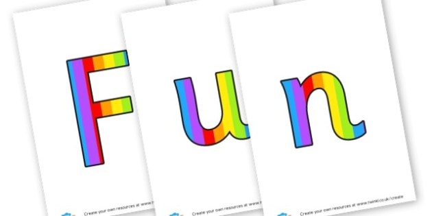 funky fingers - display lettering - Display Lettering Primary Resources, cut out, letters, display