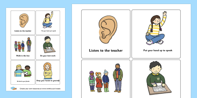 Classroom behaviour cards - Rules & Behaviour Primary Resources, golden time, routines, reward