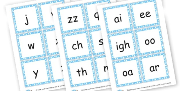 Phase 3 Sounds Cards - Phase 3 Visual Aids Primary Resources, Phase One, Letters, sounds