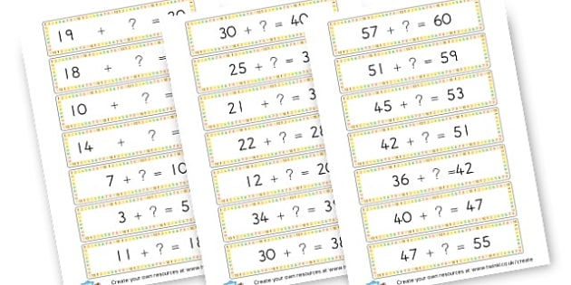 Missing number addition - Addition Primary Resources, add, plus, more, adding, activities