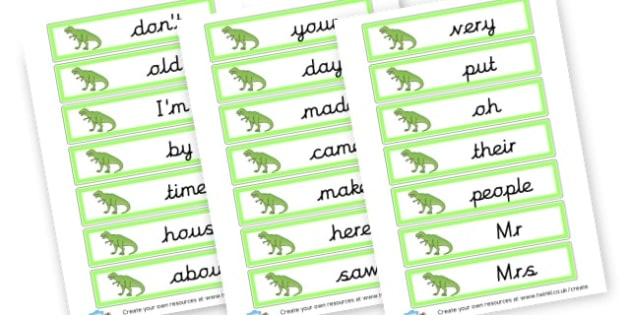 Dinosaur Phase 5 Tricky Words - Phase 5 Visual aids Primary Resources, Phase One, Letters, sounds
