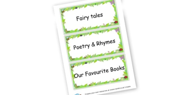 Year 2 Library Labels - Reading Area Primary Resources, signs, area, zones, banner, poster