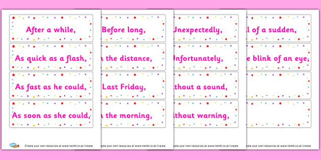 Fronted Adverbials Ks2 Sentence Structure English Literacy