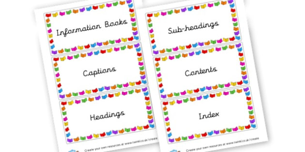 Non fiction labels - Reading Area Primary Resources, signs, area, zones, banner, poster