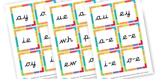 Phase Five Sound Cards - Phase 5 Visual aids Primary Resources, Phase One, Letters, sounds