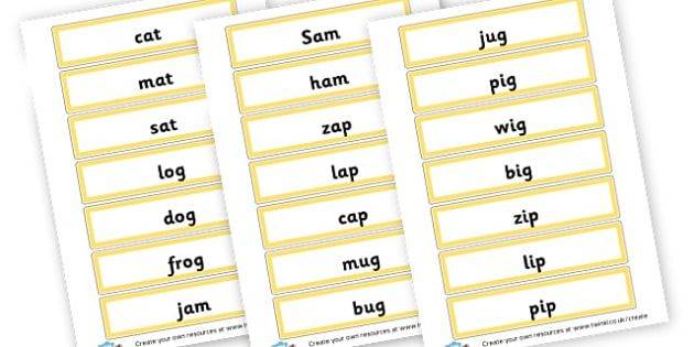 Rhyming words - Word Rhyme Primary Resources, words, rhymes, keywords, vocabulary