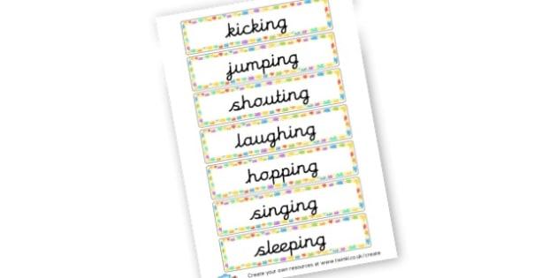 Verbs Cards - KS2 Verbs and Adverbs Primary Resources, Verbs, Adverbs, KS2 Words