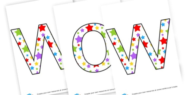 WOW Work Display - Display Lettering Primary Resources, cut out, letters, display