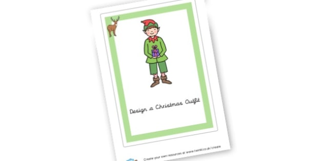 Christmas outfit - Christmas Games & Activities Primary Resources, xmas, santa, tree