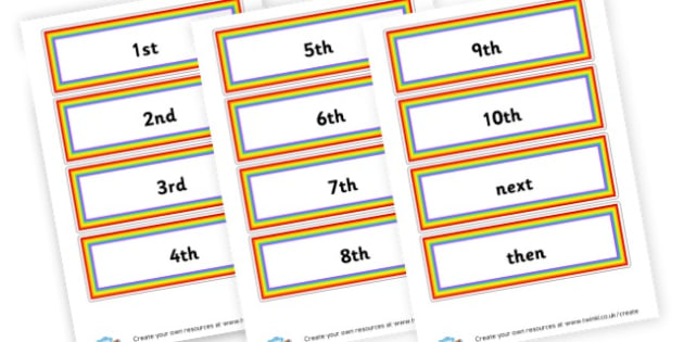 Ordinal Numbers Cards - Ordinal Numbers Primary Resources, ordering, numeracy, activities